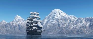 Le bateau de navigation Images stock