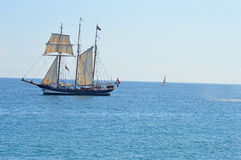 Le bateau de navigation Oostershelde Photos stock