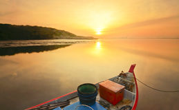 Le bateau de pêcheur Photo stock