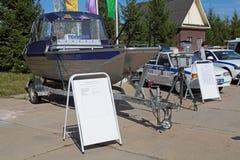 Le bateau de police Image stock