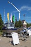 Le bateau de police Images libres de droits