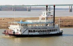 Le bateau de vapeur de la Reine d'île Image libre de droits