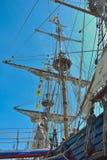 Le bateau de vintage à l'événement a appelé l'ancre d'Ostende Image libre de droits