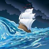 Le bateau de voile Photos stock