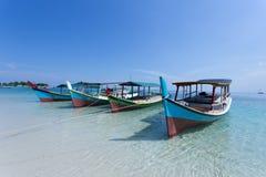 Le bateau des pêcheurs traditionnels Image stock
