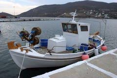 Le bateau du pêcheur photo libre de droits