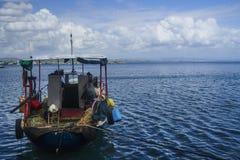 Le bateau du pêcheur Photos stock