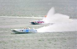 Le bateau Dyna 18 s'est préparé à la pratique officielle Photo stock
