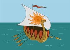 Le bateau en mer Image stock