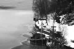 Le bateau et la glace Images libres de droits
