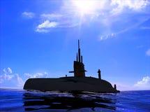 Le bateau militaire Images libres de droits