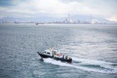 Le bateau pilote Images libres de droits