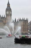 Le bateau-pompe gicle jubilé de diamant Photo libre de droits