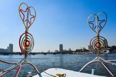 Le bateau se déclenche sur le Nil au Caire, Egypte image stock