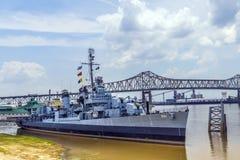 Le bateau USS Kidd sert de musée photo stock