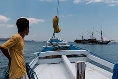 Le bateau voyage Komodo Images stock