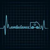 Le battement de coeur font l'ambulance textoter et le vec courant de symbole illustration stock