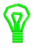 Le batterie hanno organizzato in una lampadina fotografie stock