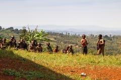 Le batteur de Gishora au Burundi badine des visionneuses Photographie stock