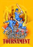 Le batteur folâtre le joueur jouant le jeu du cricket illustration stock