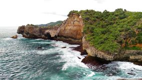 Le batu di Pantai de Tebing ngeden Photos stock