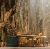 le batu foudroie le temple indou Image libre de droits