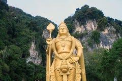 Le Batu foudroie Lord Murugan Statue et l'entrée près de Kuala Lumpur Malaysia images libres de droits