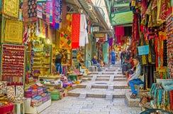 Le bazar du Moyen-Orient Images libres de droits