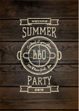 Le BBQ badges des logos et des labels pour utilisation Photos stock
