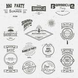 Le BBQ badges des logos et des labels pour utilisation Image libre de droits