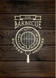 Le BBQ badges des logos et des labels pour utilisation Images libres de droits