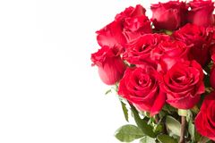 Le beau bouquet de roses rouges Photos stock