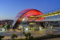 Le beau centre intermodal régional de transit d'Anaheim Image stock