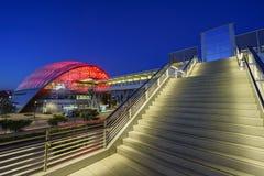 Le beau centre intermodal régional de transit d'Anaheim Images stock