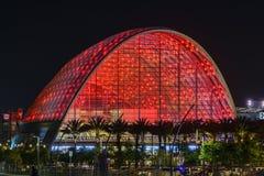 Le beau centre intermodal régional de transit d'Anaheim Photographie stock libre de droits