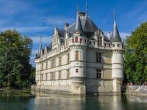 Le beau château chez Azay le Rideau en Loire photo stock