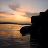 Le beau ciel quand coucher du soleil photographie stock