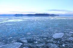 Le beau, congelé Lac Balaton image stock