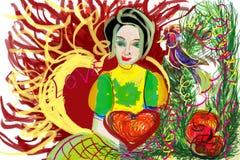 Le beau début de conte de fées, a indiqué des contes de grand-maman Images libres de droits