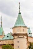 Le beau et célèbre château Bojnice en Slovaquie Images stock