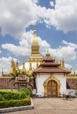 Le beau et célèbre Pha qui stupa de Luang à Vientiane, Laos photo stock