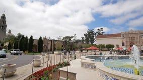Le beau et historique parc de Balboa banque de vidéos