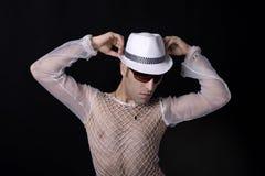 Le beau et très élégant danseur pose Images libres de droits