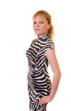 Le beau femme dans la robe Images stock