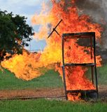 Le beau feu Photo stock