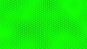 Le beau fond vert de hexagrid avec la mer molle ondule Images stock