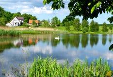 Le beau lac Photos stock