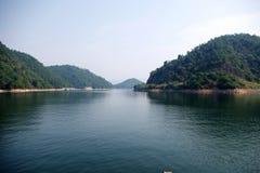 Le beau lac Photographie stock