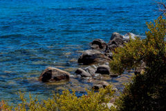 Le beau lac Tahoe en juin Images libres de droits