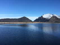 Le beau littoral dans ReipÃ¥, Norvège du nord Image libre de droits